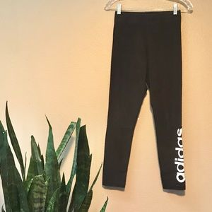 Adidas Black Logo Leggings Size Small NWOT